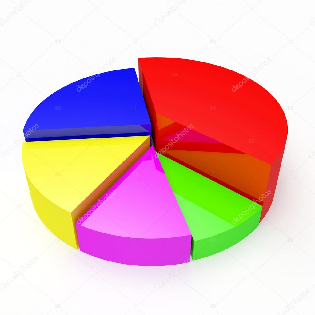 Empty Pie Chart Graph For Information Or Business