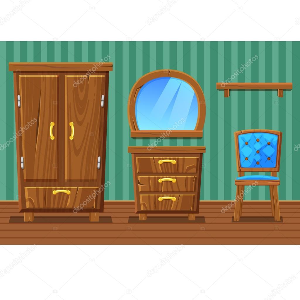 Imgenes muebles de sala animados  Set de dibujos