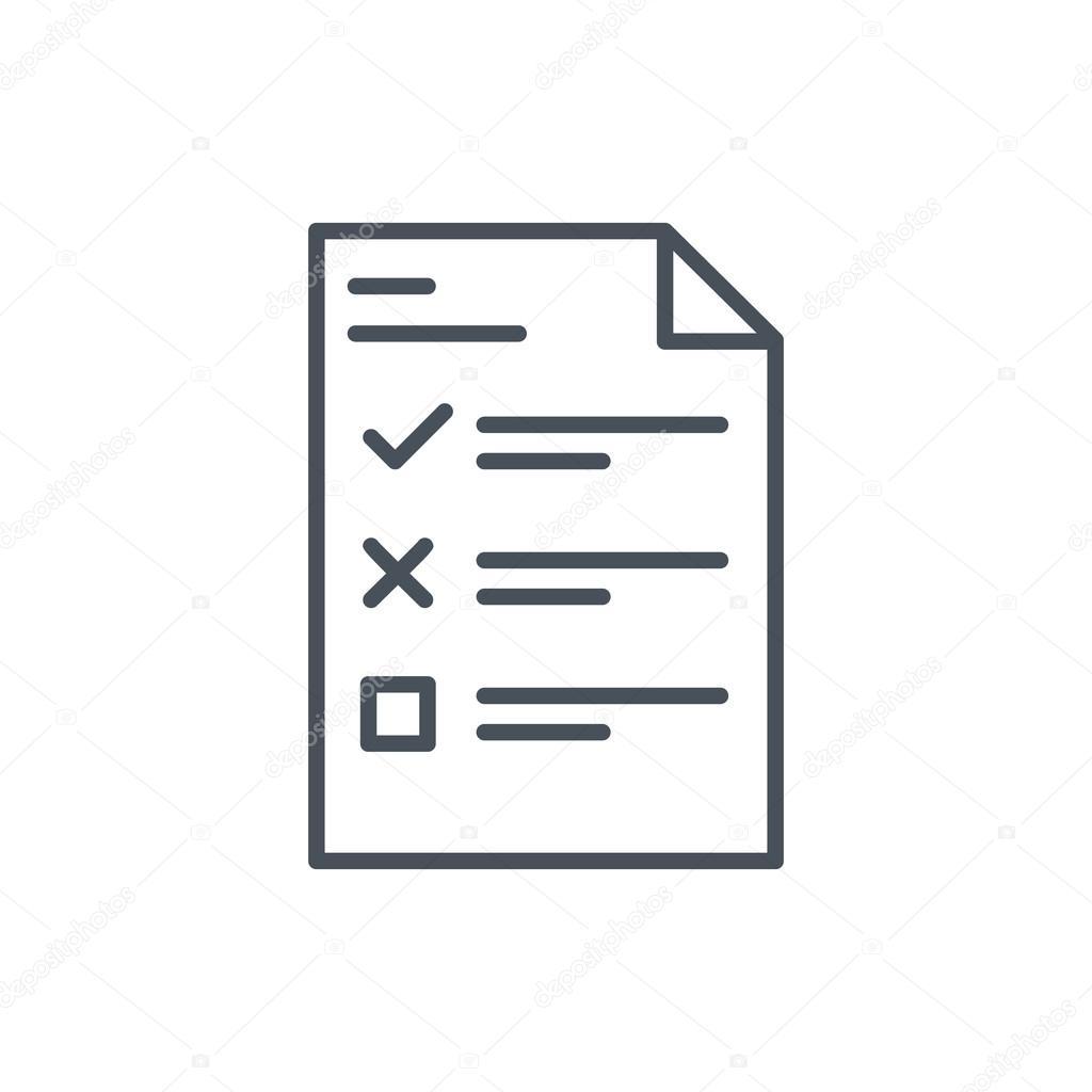 Umfrage Symbol Aufgabenliste