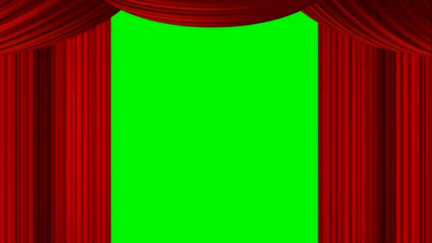 animated zooming heart red curtain on green screen chroma key for oscar movie review stage show entertainment drama valentine based chat talk show live transmission broadcasting programs as backdrop