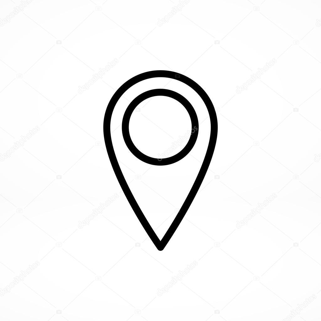 Zeiger Standort Symbol