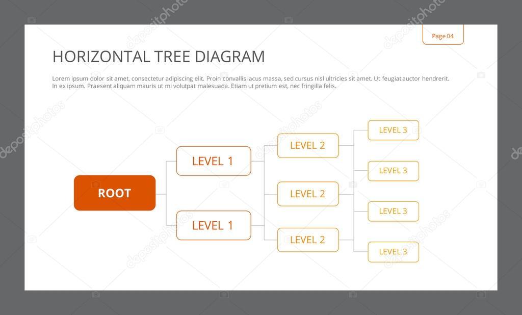 Horizontal Tree Diagram Template — Stock Vector © surfsup.vector ...