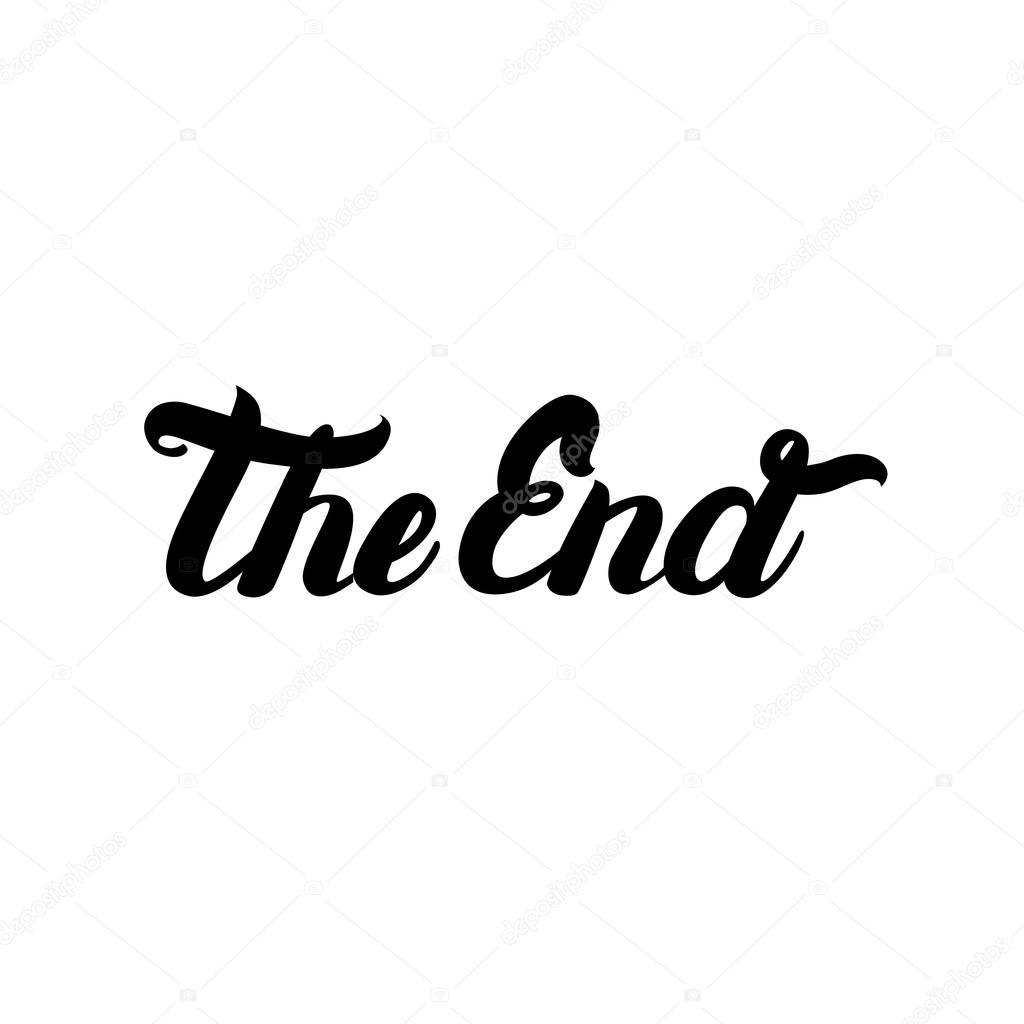 Movie Ending Hand Written Lettering The End