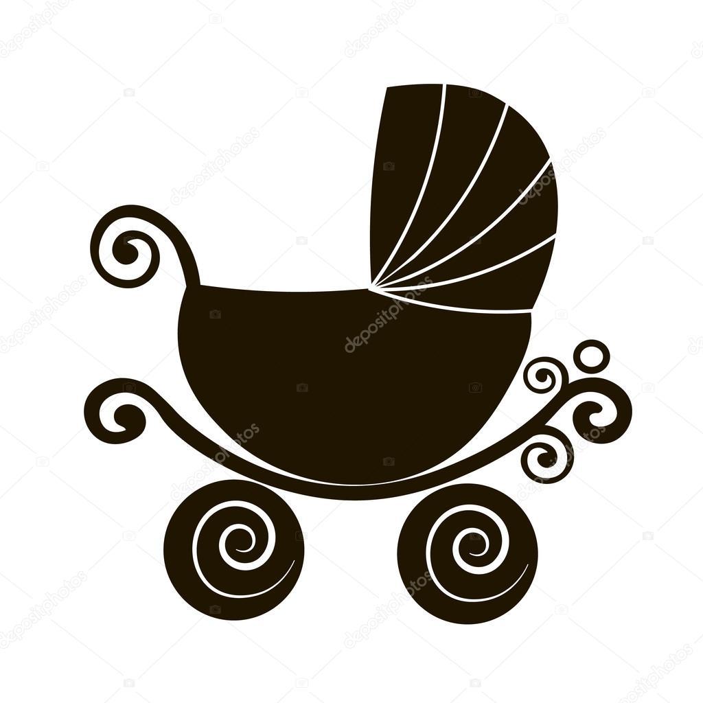 https depositphotos com 108786700 stock illustration silhouette cute stroller vintage baby html