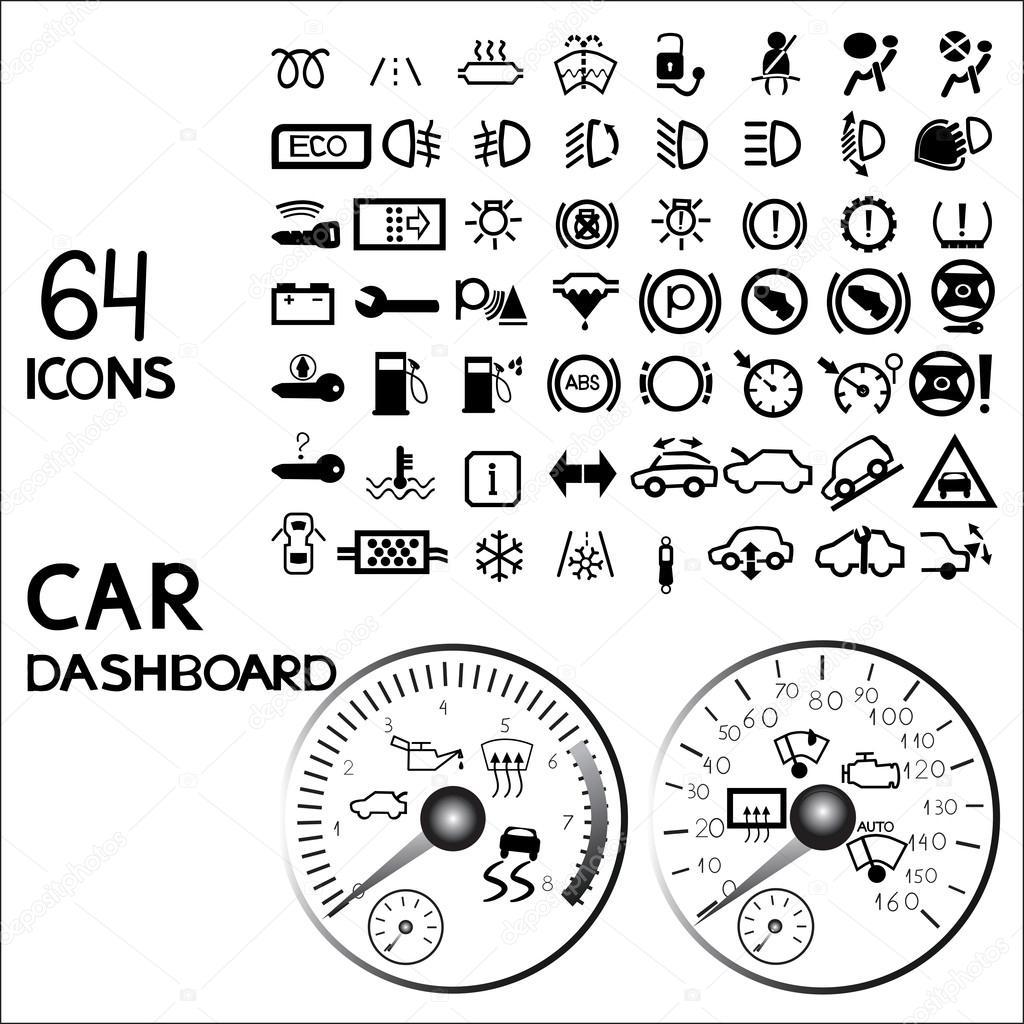 Car dashboard icons — Stock Vector © pidzam4e.ukr.net