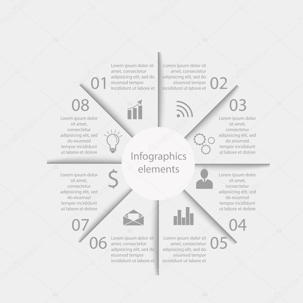 Infographics business elements — Vetor de Stock