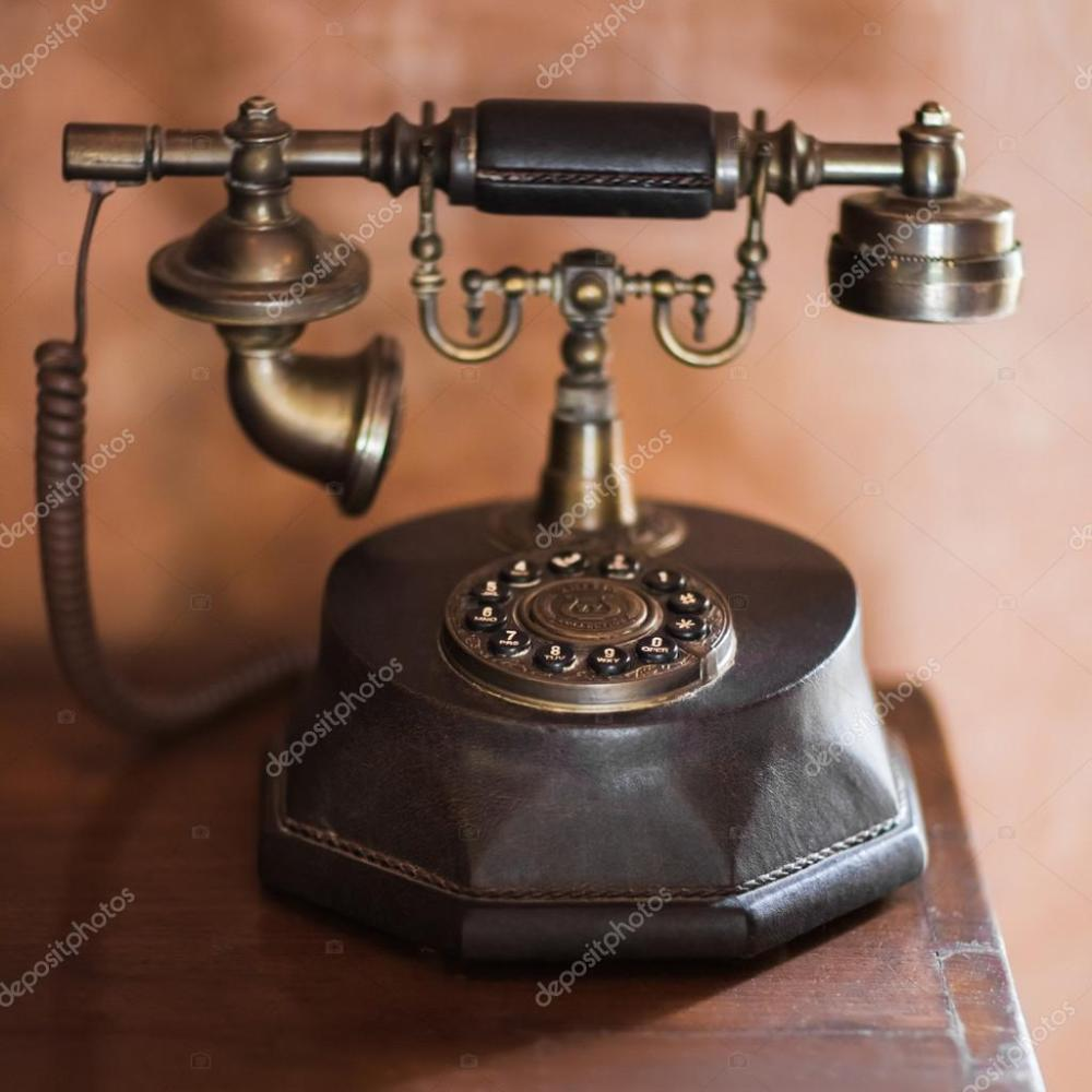 medium resolution of old vintage antique phone stock photo