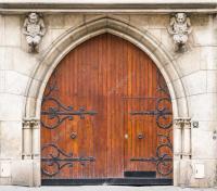 vieille porte en bois mdivaux  Photographie hzparisien ...