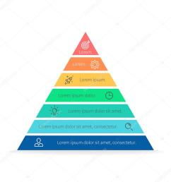 pyramid for infographics with numbers chart diagram with 7 steps options vector design element vector by fireofheart08 gmail com [ 1024 x 1024 Pixel ]