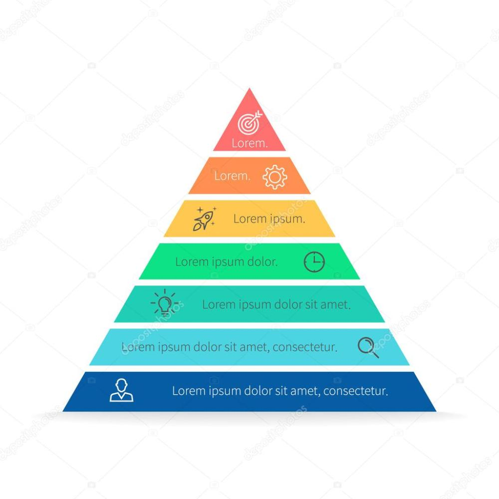 medium resolution of pyramid for infographics with numbers chart diagram with 7 steps options vector design element vector by fireofheart08 gmail com