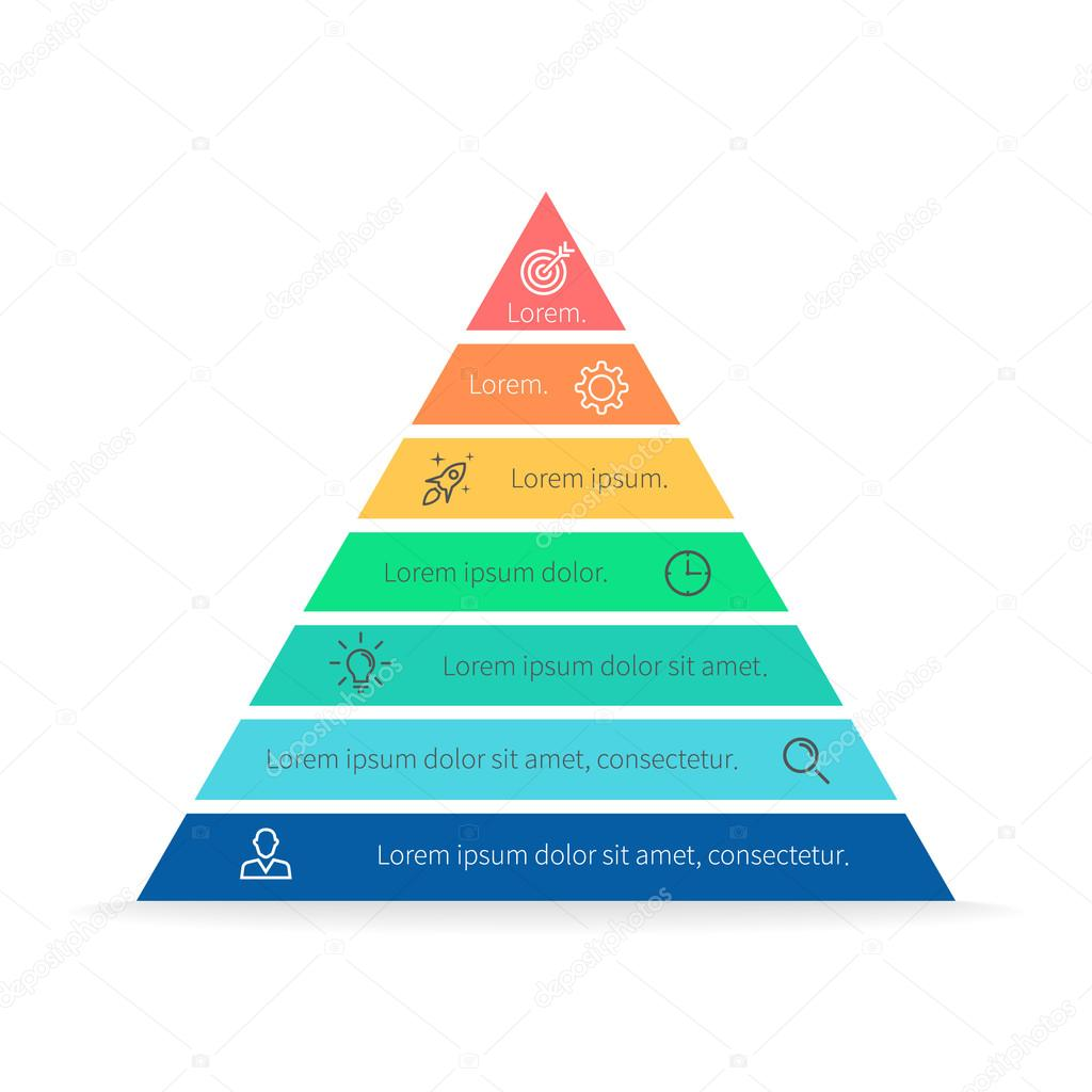 hight resolution of pyramid for infographics with numbers chart diagram with 7 steps options vector design element vector by fireofheart08 gmail com