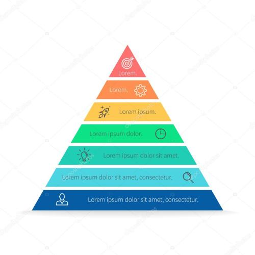 small resolution of pyramid for infographics with numbers chart diagram with 7 steps options vector design element vector by fireofheart08 gmail com
