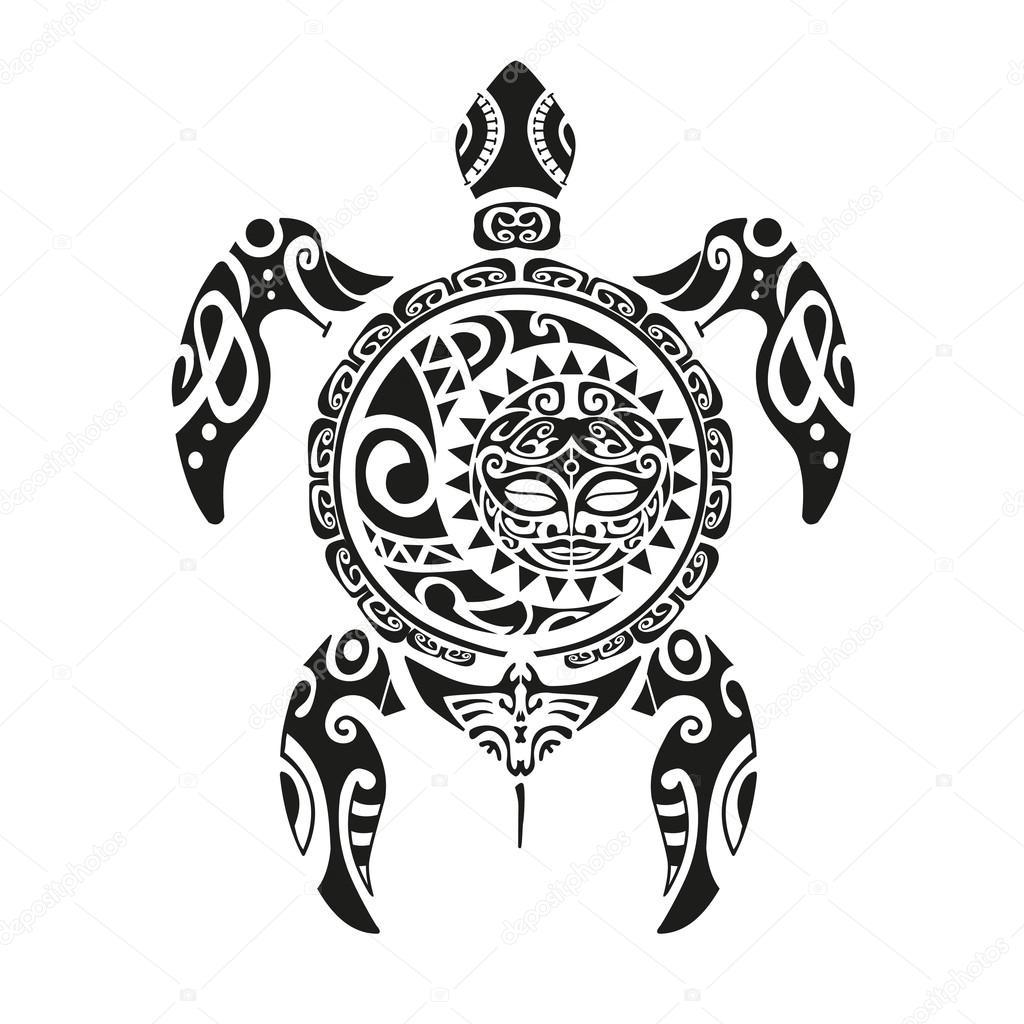 Vectores Tortugas Tatuaje De Tortuga Maorí Estilo Ilustración De