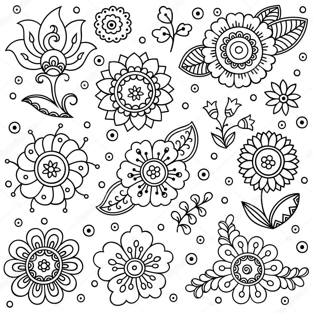 Kwiatki Vector Adny Styl Kwiatowe T O Wiosna Element