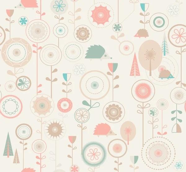 程式化的粉色花背景 — 圖庫矢量圖像© antkevyv #9800974