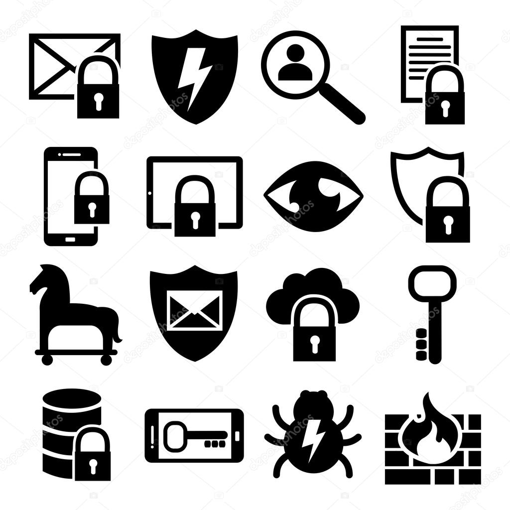 Information Technology Security Icons IT Website Icons