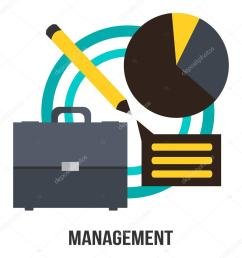 management business concept vector design suitcase diagram and pencil presentation stock vector [ 1024 x 1024 Pixel ]