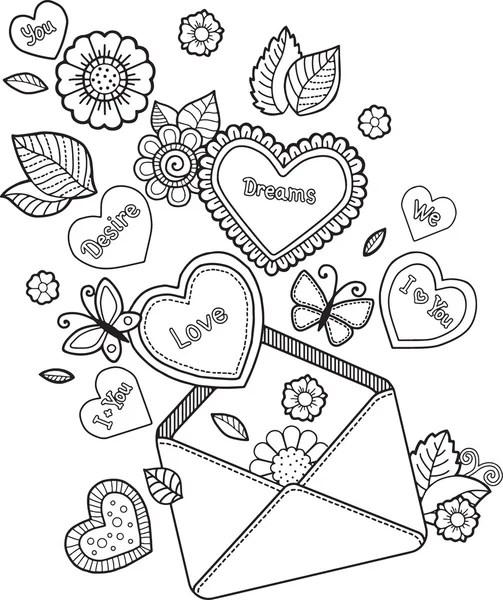 Disegni da colorare cuore fiore pagina giorno di San