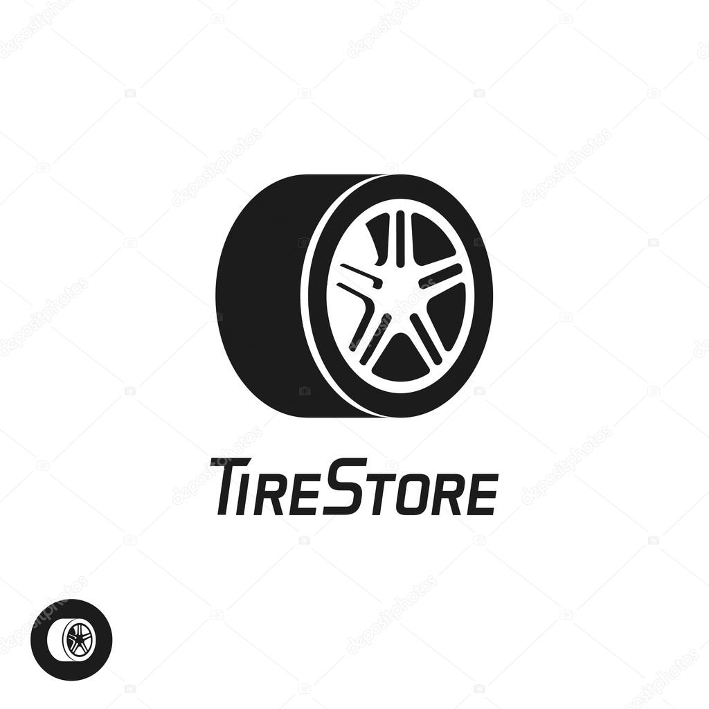 Tire store vector logo template isolated on white
