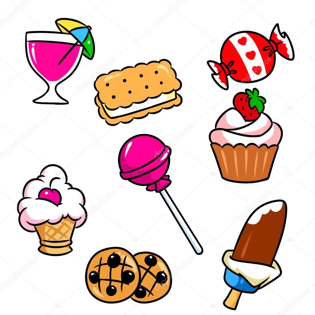 Dibujos dibujo dulces  Dibujos animados dulces de cocina