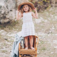 Little Girl Chairs Old Wooden Rocking Chair Standing On Stock Photo C Life 123190618