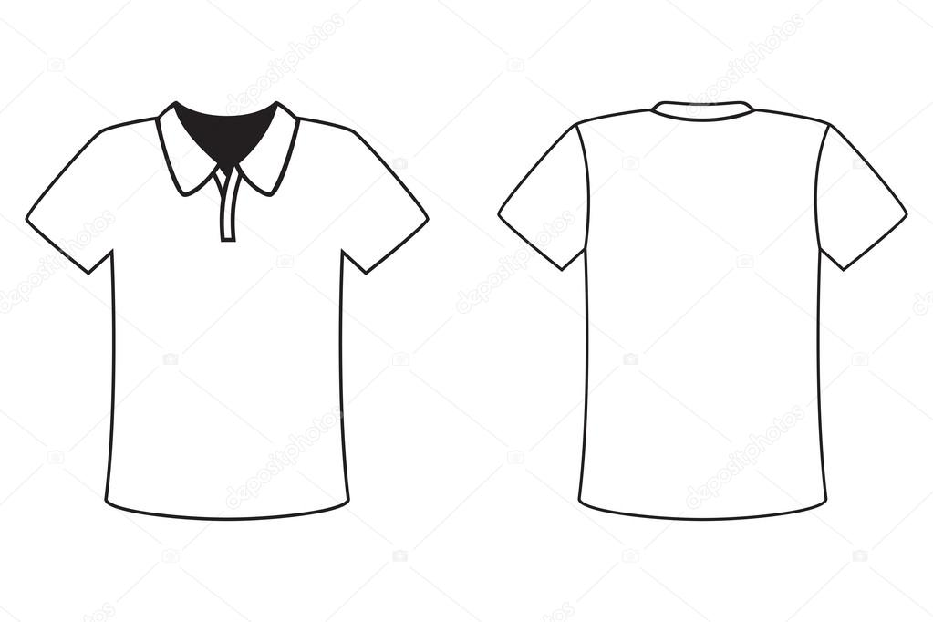 Blank t-shirt template for design