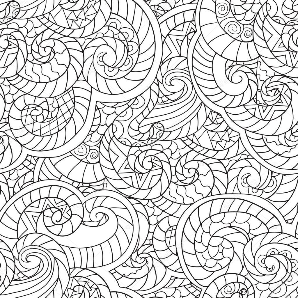 Disegni da colorare per adulti Seamless Pattern di