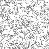Disegni da colorare per adulti. Decorativo a mano doodle ...