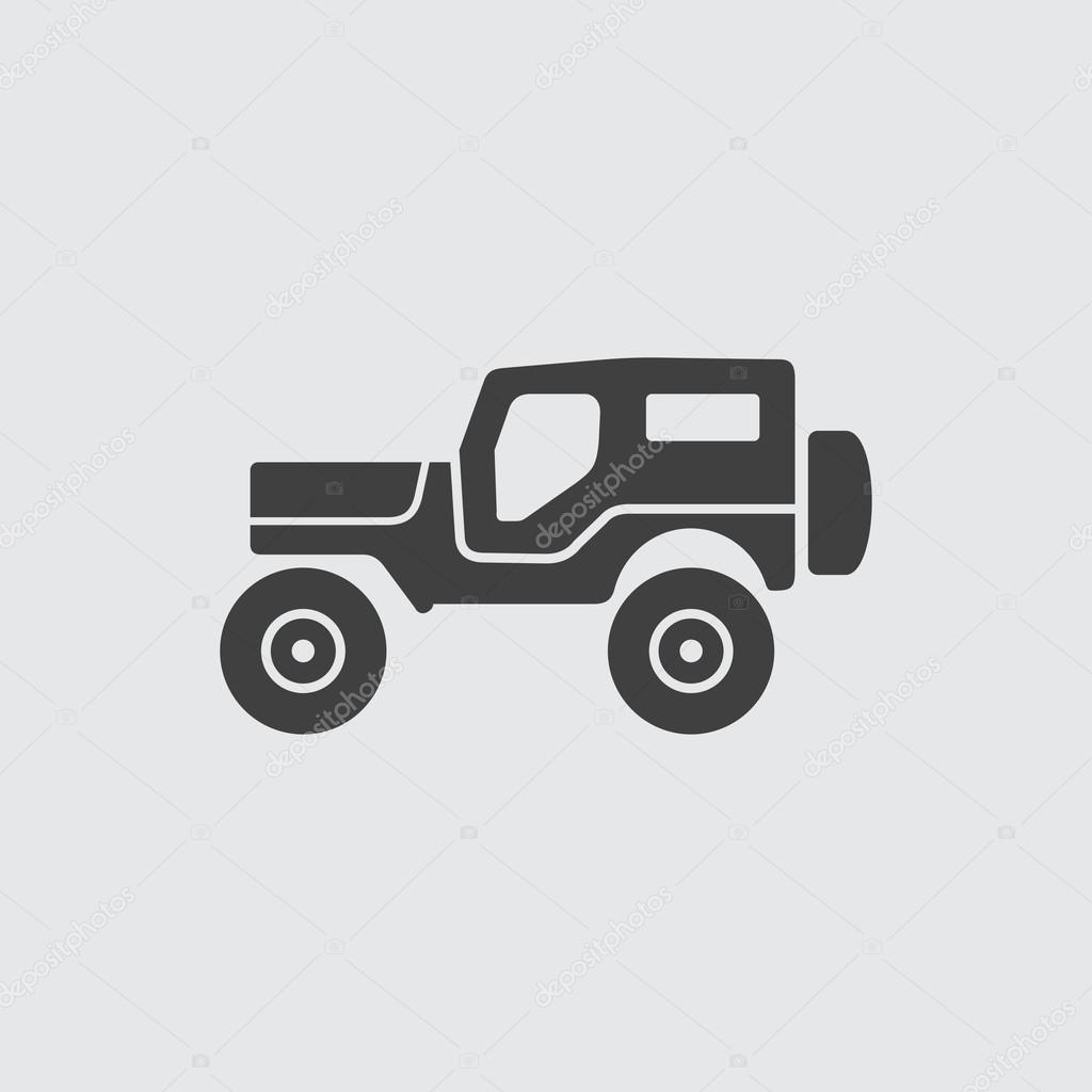 jeep icon illustration stock