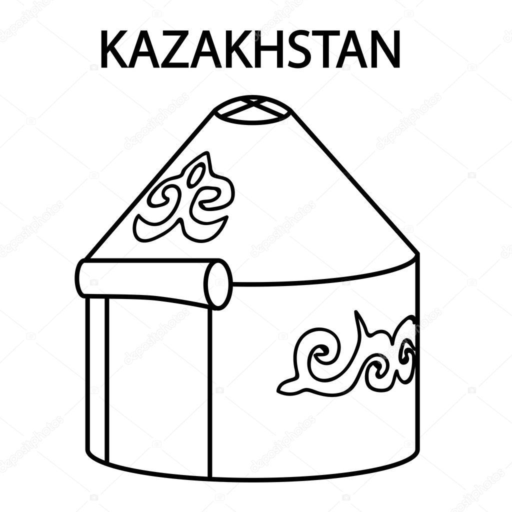 Mongolia Yurt Icon Historical Islamic Warm Housing