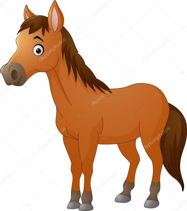 Cute Horse Cartoon Stock Vector Dreamcreation01 #123549512