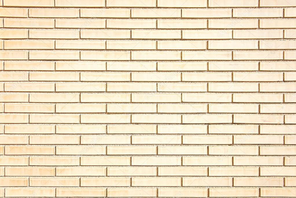 new beige brick wall