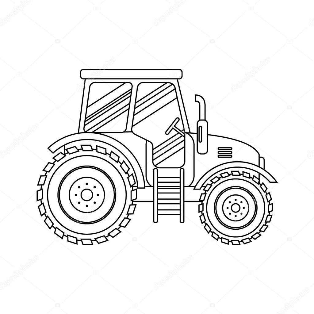 Imagenes Silueta De Tractor Agricola