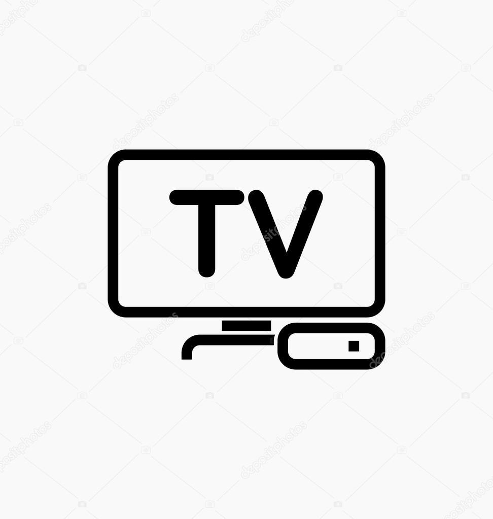 Значок тв. ТВ / Iptv значок — Векторное изображение