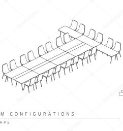 meeting room setup layout configuration t shape style stock vector [ 1024 x 768 Pixel ]