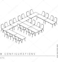 meeting room setup layout configuration e shape style stock vector [ 1024 x 768 Pixel ]