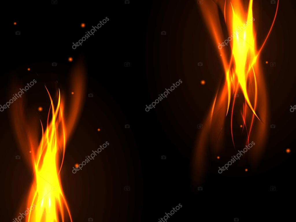 abstract flames black background