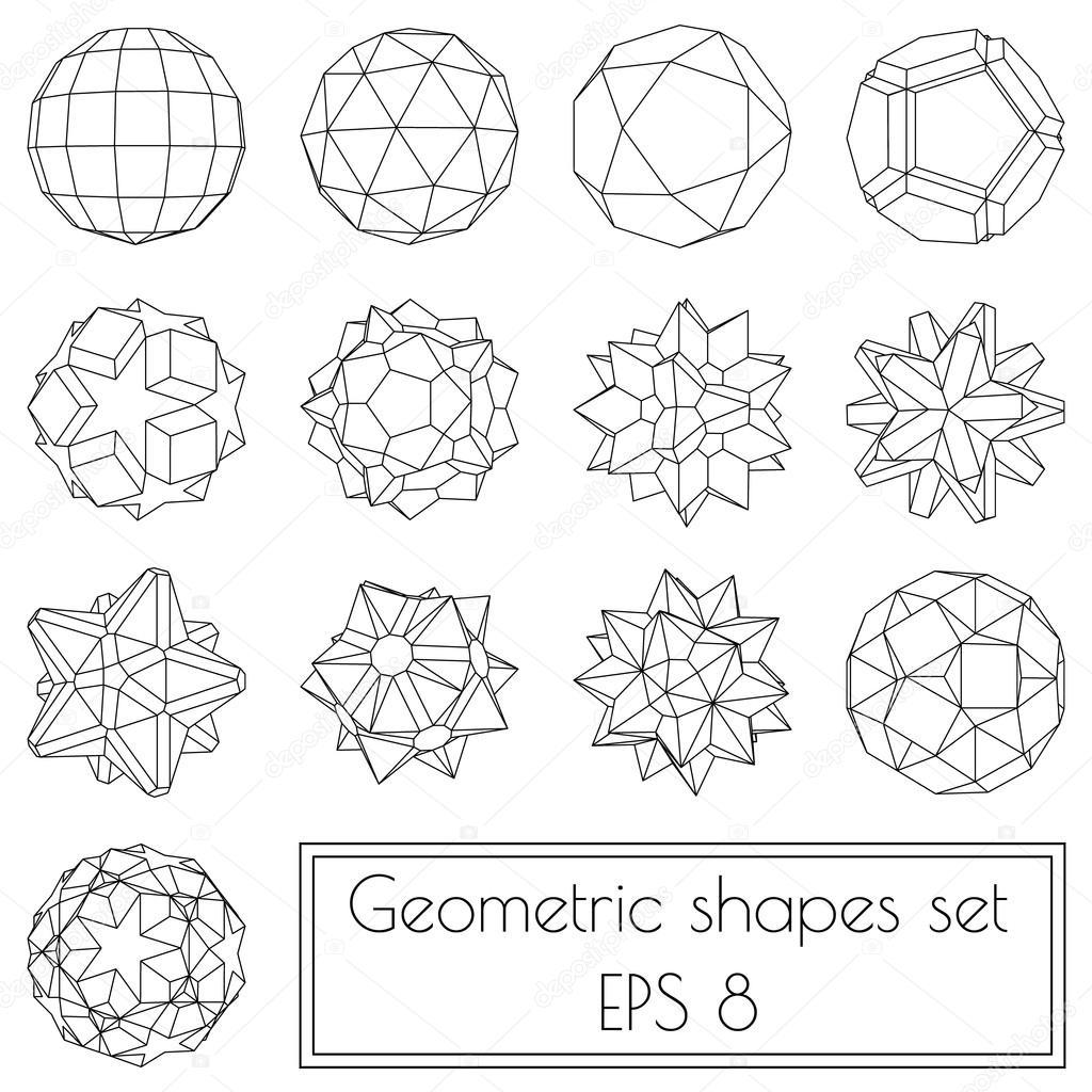 3d geometric shapes — Stock Vector © VMK_architect #117100868