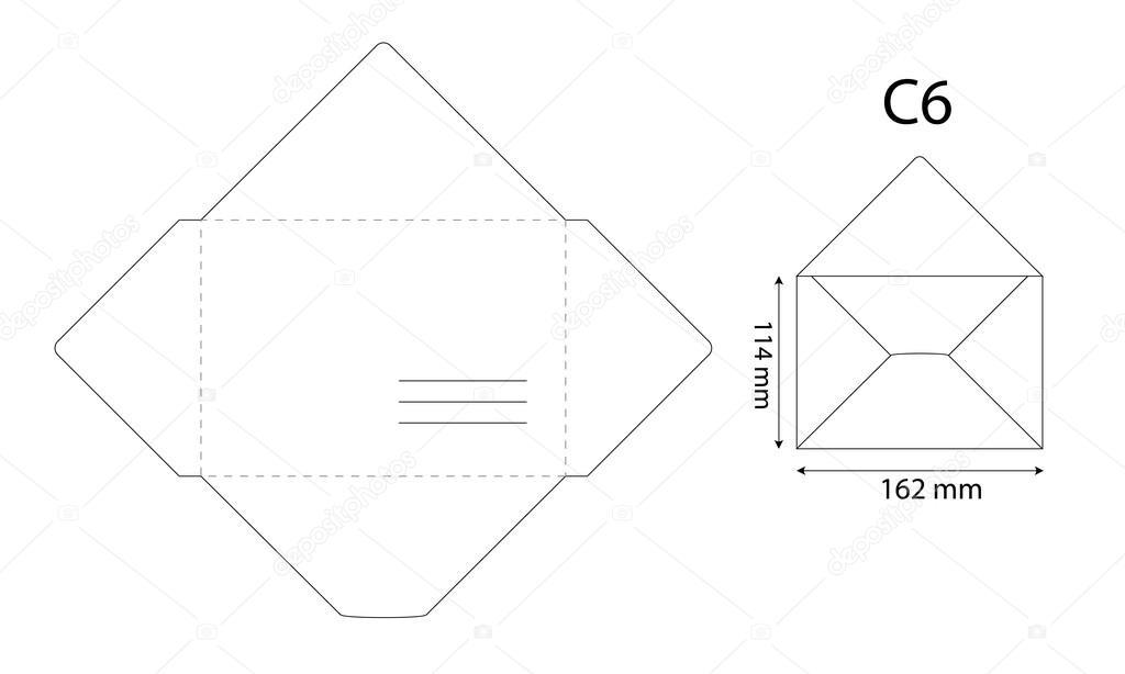 um modelo para um envelope — Vetores de Stock © Tetiana_Ch