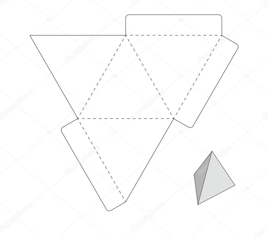 Plantilla caja triángulo — Vector de stock © Tetiana_Ch
