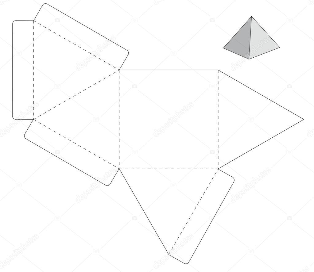 Modelo caixa triângulo — Vetores de Stock © Tetiana_Ch