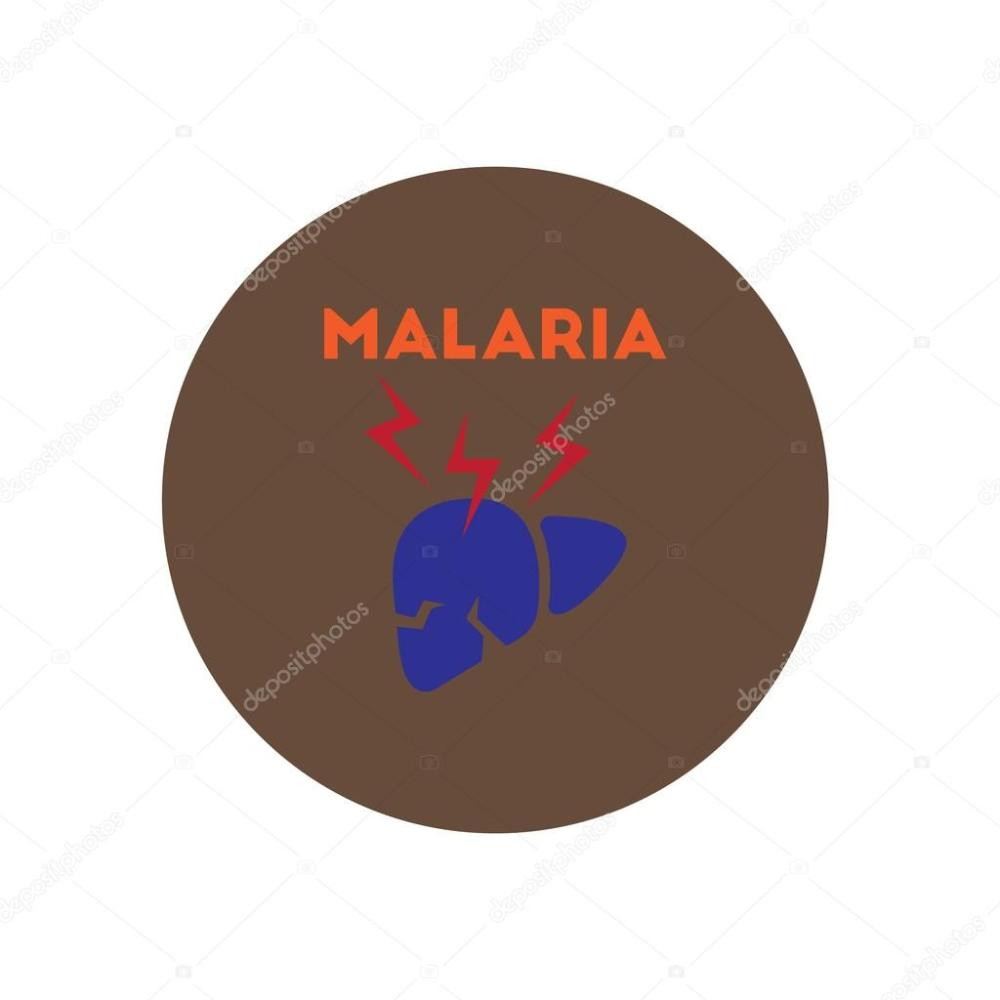 medium resolution of vector icon on circle various symptoms of malaria on the bodies stock vector
