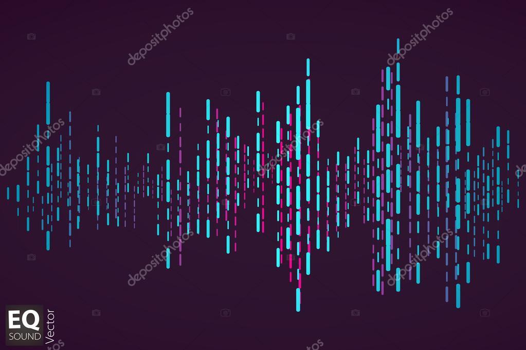 Vector equalizer achtergrond Muziek poster Geluidsgolf