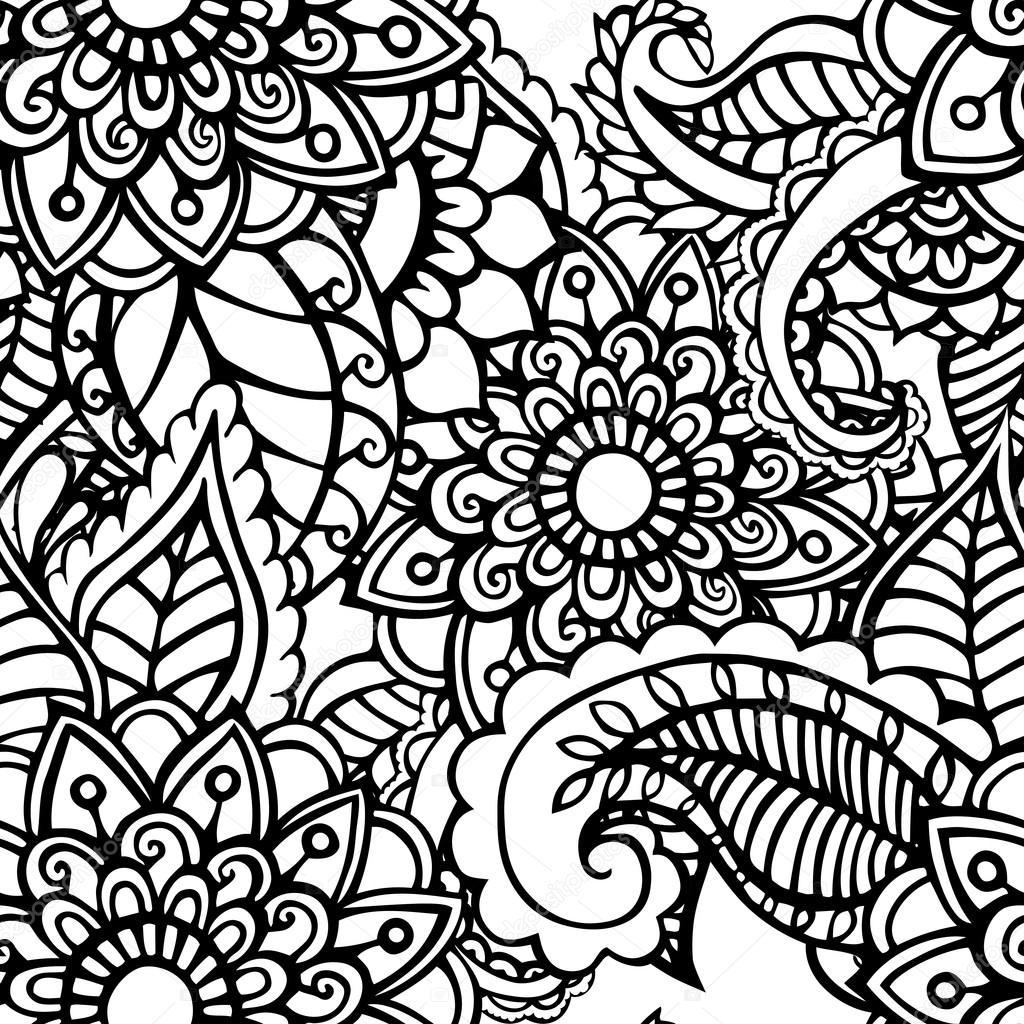Zentangle Abstract Flowers Doodle Flower Vector
