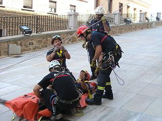La Escuela de Protección Ciudadana imparte curso de rescate en altura este mes de junio. Foto: JCCM.