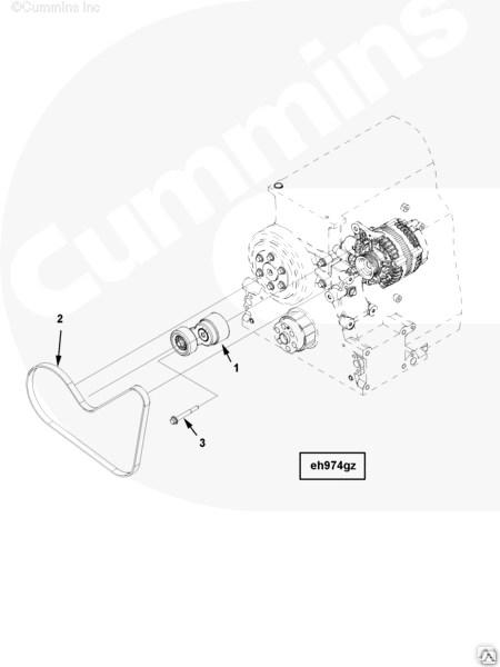 Болт крепления натяжного устройства ремня Cummins ISG12