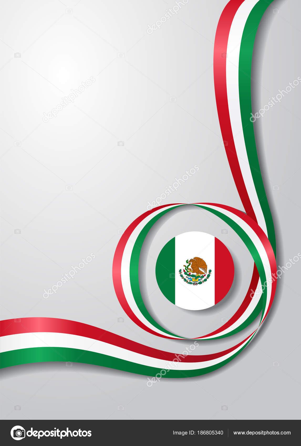 Fondo ondulado de la bandera mexicana Ilustracin de
