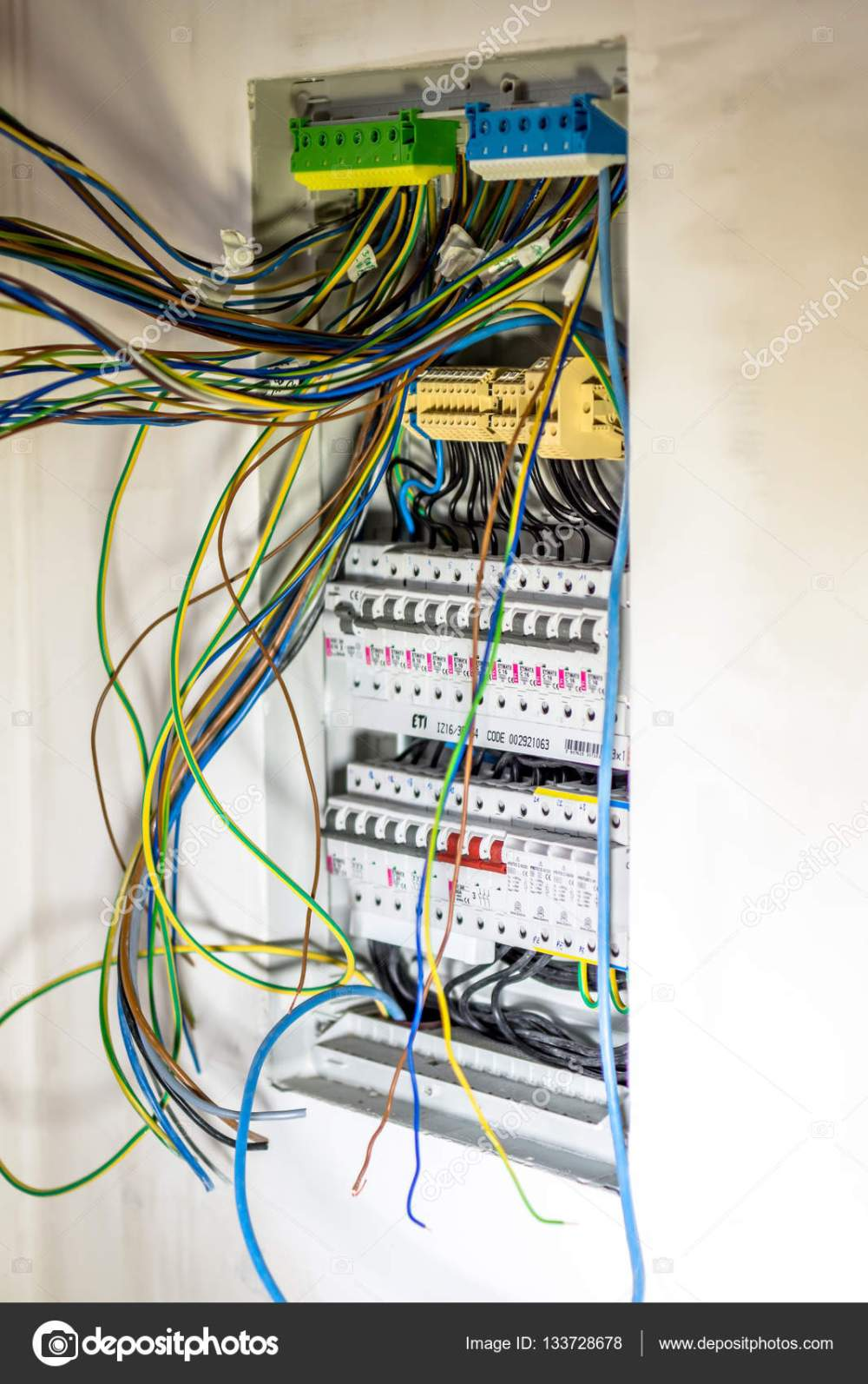 medium resolution of automatic fuse switches circuit breaker and wiring terminal in cabinet photo by fotovincek