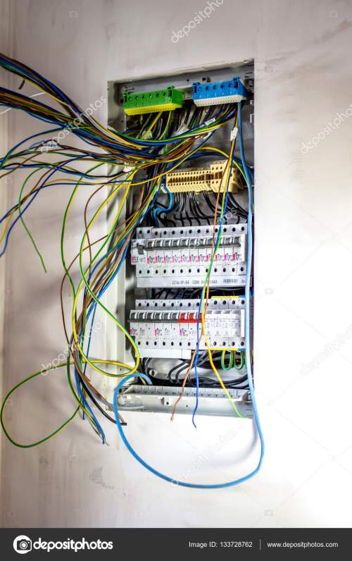 small resolution of electrician fixing electric panel stock photo automatic fuse switches circuit breaker and wiring terminal in cabine photo by fotovincek