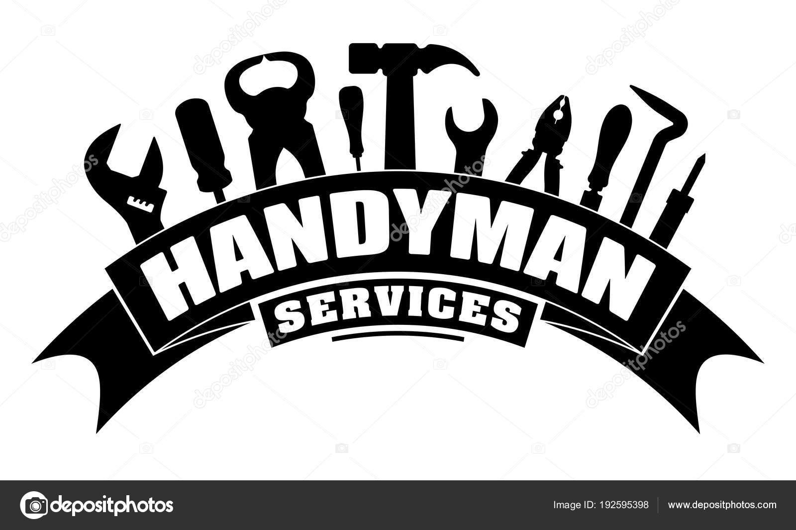 Servicios Handyman Diseno Para Logotipo Emblema Con